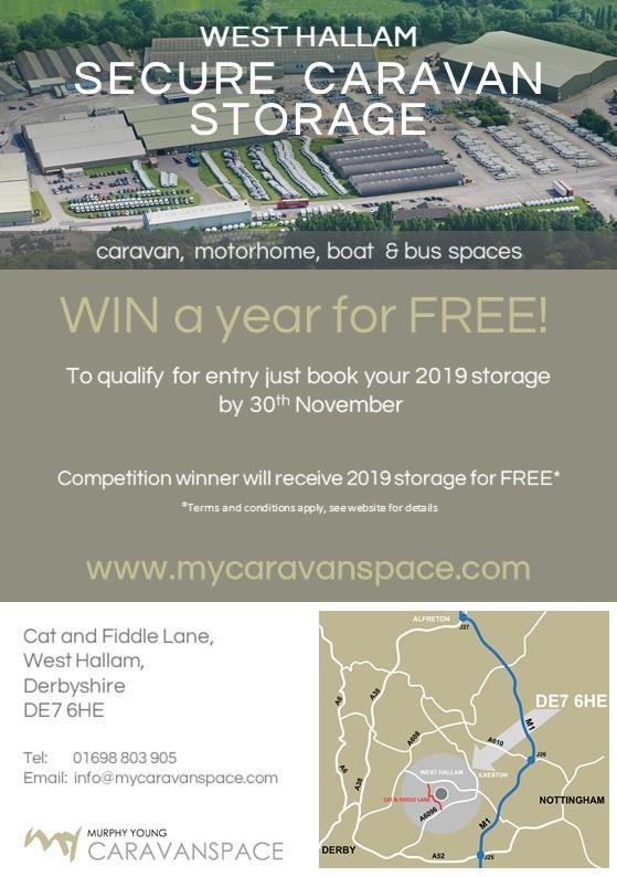 WIN your 2019 Caravan or Motorhome storage for FREE!